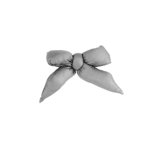 Puffer Bow Clip // Grey - KNOT Hairbands
