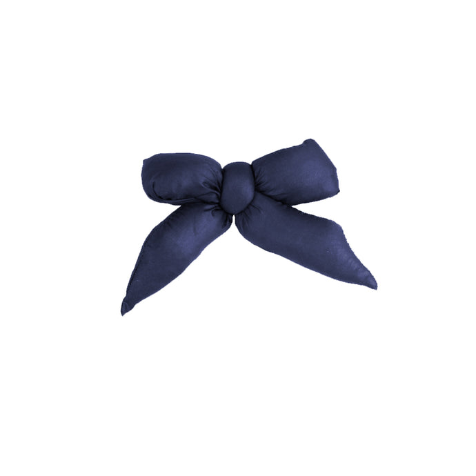 Puffer Bow Clip // Navy - KNOT Hairbands