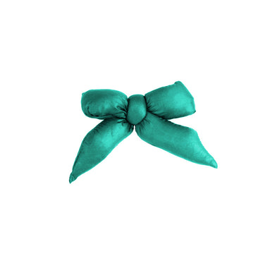 Puffer Bow Clip // Teal - KNOT Hairbands