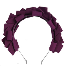 Load image into Gallery viewer, CLUSTER Headband // Eggplant - KNOT Hairbands