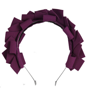 CLUSTER Headband // Eggplant - KNOT Hairbands