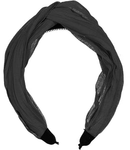 RUCHED KNOT HEADBAND - KNOT Hairbands