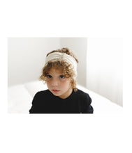 Load image into Gallery viewer, RUFFLED Headwrap // Metallic Black + Gold - KNOT Hairbands