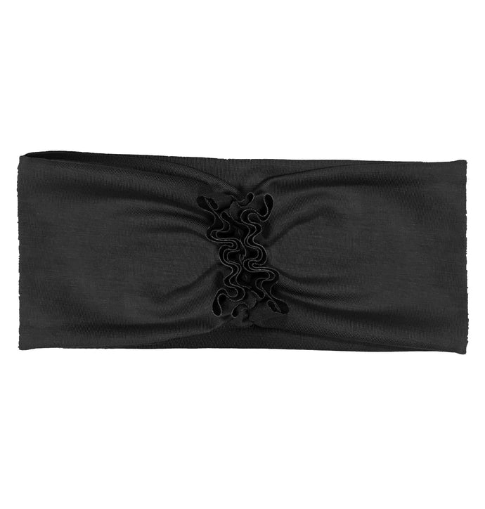 RUFFLED Headwrap // Black - KNOT Hairbands