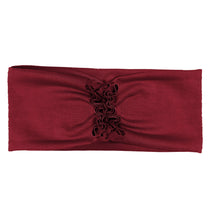 Load image into Gallery viewer, RUFFLED Headwrap // Burgundy - KNOT Hairbands
