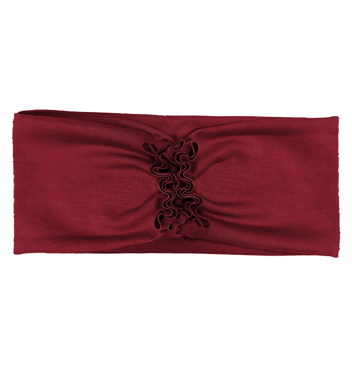 RUFFLED Headwrap // Burgundy - KNOT Hairbands