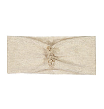 Load image into Gallery viewer, RUFFLED Headwrap // Metallic Ivory + Gold - KNOT Hairbands