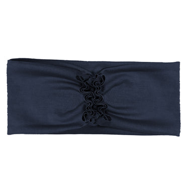 RUFFLED Headwrap // Navy