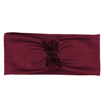 Load image into Gallery viewer, RUFFLED Headwrap // Wine - KNOT Hairbands