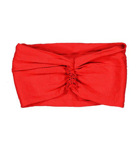 RUFFLE Headwrap // Red - KNOT Hairbands