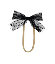 Load image into Gallery viewer, SPRINKLE BOW BAND // Black - KNOT Hairbands