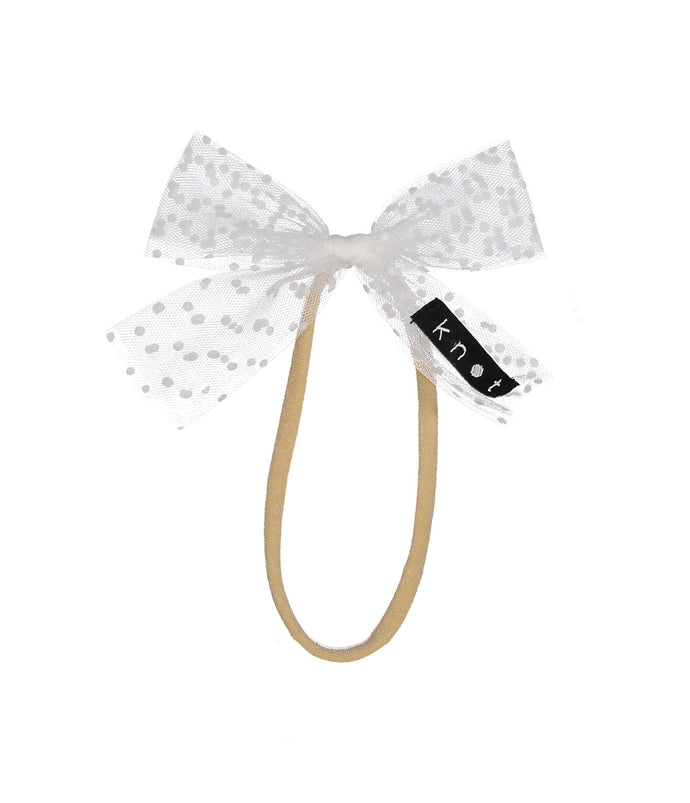 SPRINKLE BOW BAND // White - KNOT Hairbands