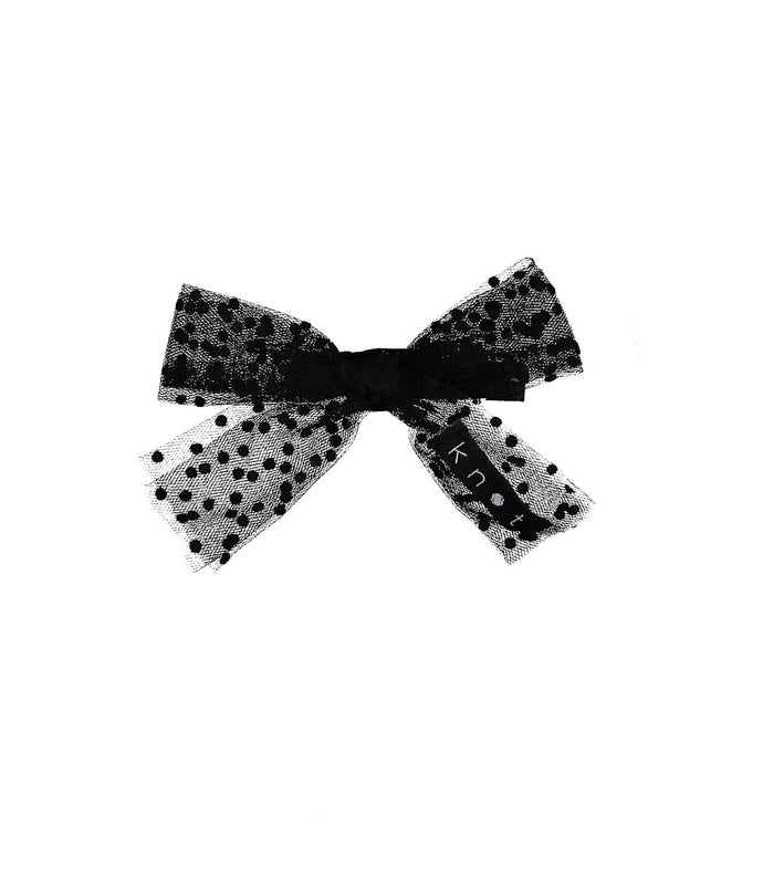 SPRINKLE BOW CLIP // Black - KNOT Hairbands