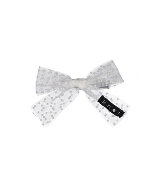 SPRINKLE BOW CLIP // White - KNOT Hairbands