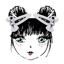Load image into Gallery viewer, SUGAR BOW SNAP CLIP SET // White - KNOT Hairbands