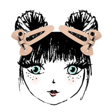 Load image into Gallery viewer, SUGAR BOW SNAP CLIP SET // Blush - KNOT Hairbands