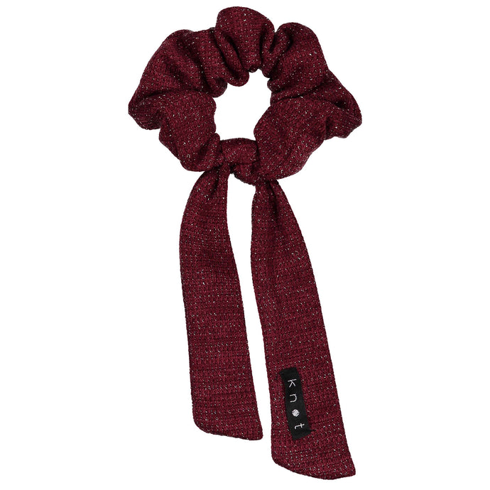 SWEATER SCRUNCHIE // Burgundy - KNOT Hairbands