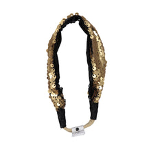 Load image into Gallery viewer, SPARKLE Band // Gold & Black - KNOT Hairbands