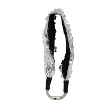 Load image into Gallery viewer, SPARKLE Band // Silver & White - KNOT Hairbands