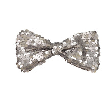 Load image into Gallery viewer, SPARKLE Bow Clip // Pewter - KNOT Hairbands