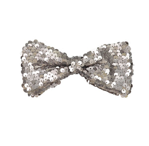 SPARKLE Bow Clip // Pewter - KNOT Hairbands