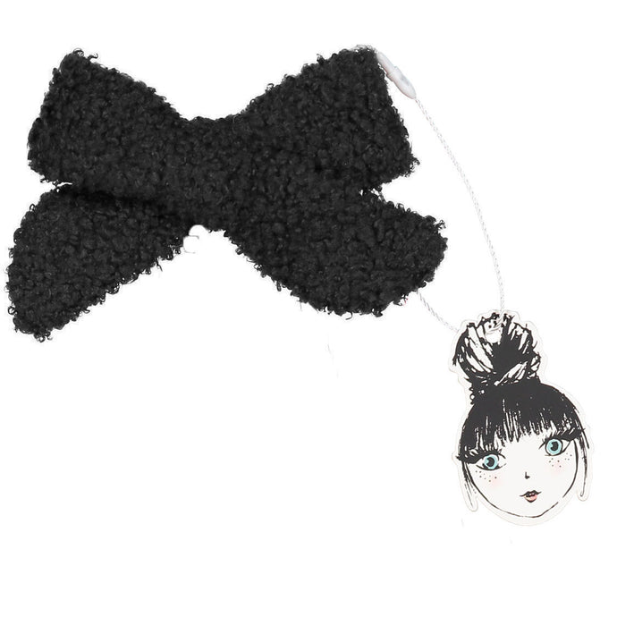 SILHOUETTE BOUCLE BOW CLIP - KNOT Hairbands