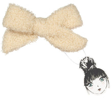 Load image into Gallery viewer, SILHOUETTE BOUCLE BOW CLIP - KNOT Hairbands