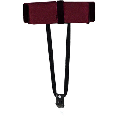 SILK + VELVET RIBBON BOW BAND // Burgundy - KNOT Hairbands