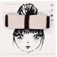 Load image into Gallery viewer, SILK + VELVET RIBBON BOW CLIP // Toffee // MINI - KNOT Hairbands