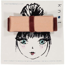 Load image into Gallery viewer, SILK + VELVET RIBBON BOW CLIP // Sunset // MINI - KNOT Hairbands