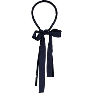 SILK + VELVET RIBBON HEADBAND // Midnight Navy - KNOT Hairbands