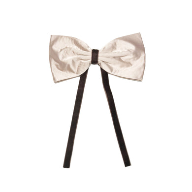 SILK + VELVET RIBBON BOW CLIP // Toffee // YOUTH - KNOT Hairbands