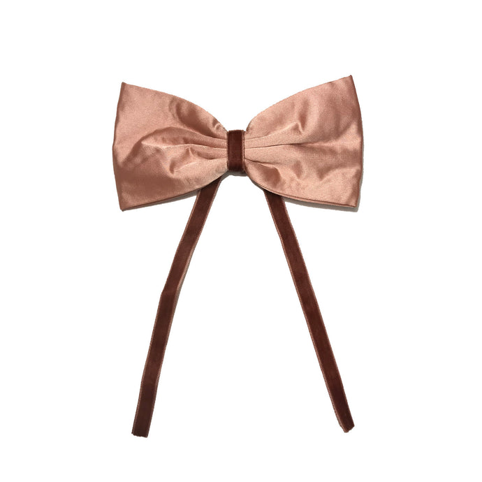 SILK + VELVET RIBBON BOW CLIP // Sunset // YOUTH - KNOT Hairbands