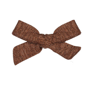 SWEATER BOW CLIP // Almond - KNOT Hairbands