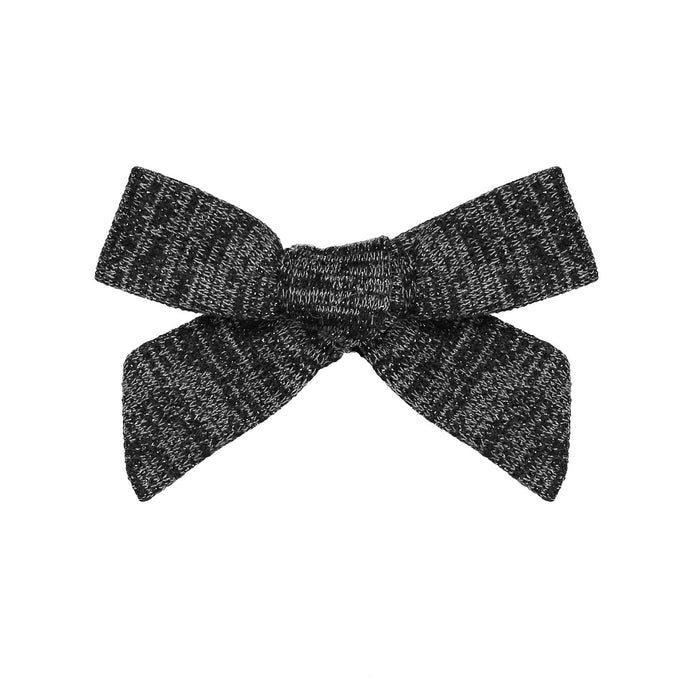 SWEATER BOW CLIP // Onyx Black - KNOT Hairbands