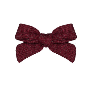 SWEATER BOW CLIP // Burgundy - KNOT Hairbands