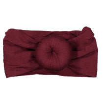 Load image into Gallery viewer, TOP KNOT Headwrap // BURGUNDY - KNOT Hairbands