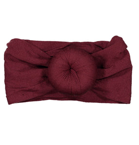 TOP KNOT Headwrap // BURGUNDY - KNOT Hairbands