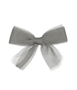 Tutu Bow Clip // GREY - KNOT Hairbands