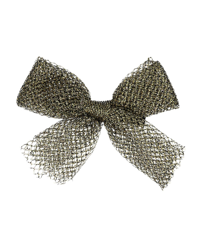 Tutu Bow Clip // METALLIC BLACK + GOLD - KNOT Hairbands