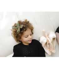 Load image into Gallery viewer, Tutu Bow Clip // METALLIC BLACK + GOLD - KNOT Hairbands