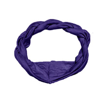 Load image into Gallery viewer, Twist Headwrap // Blueberry - KNOT Hairbands