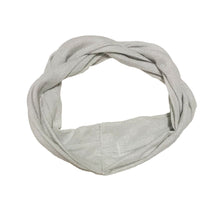 Load image into Gallery viewer, Twist Headwrap // Metallic Silver - KNOT Hairbands