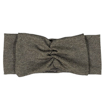 Load image into Gallery viewer, Twist Bow Headwrap // Metallic Black + Gold