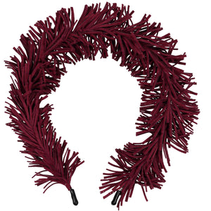 TASSEL HEADBAND // Burgundy - KNOT Hairbands
