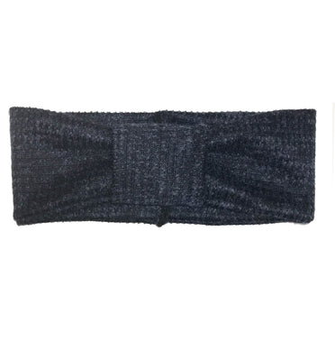 Turban Headwrap // HERRINGBONE NAVY KNIT - KNOT Hairbands