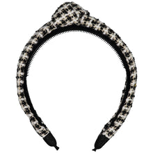 Load image into Gallery viewer, TWEED KNOT HEADBAND // Black + Pearl Weave - KNOT Hairbands