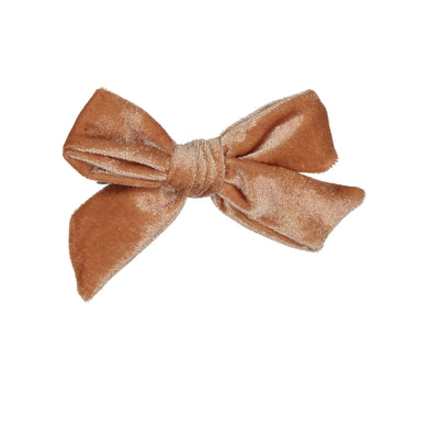 VELVET BOW CLIP // Sunset - KNOT Hairbands