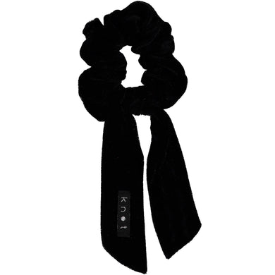 VELVET SCRUNCHIE // Onyx Black - KNOT Hairbands