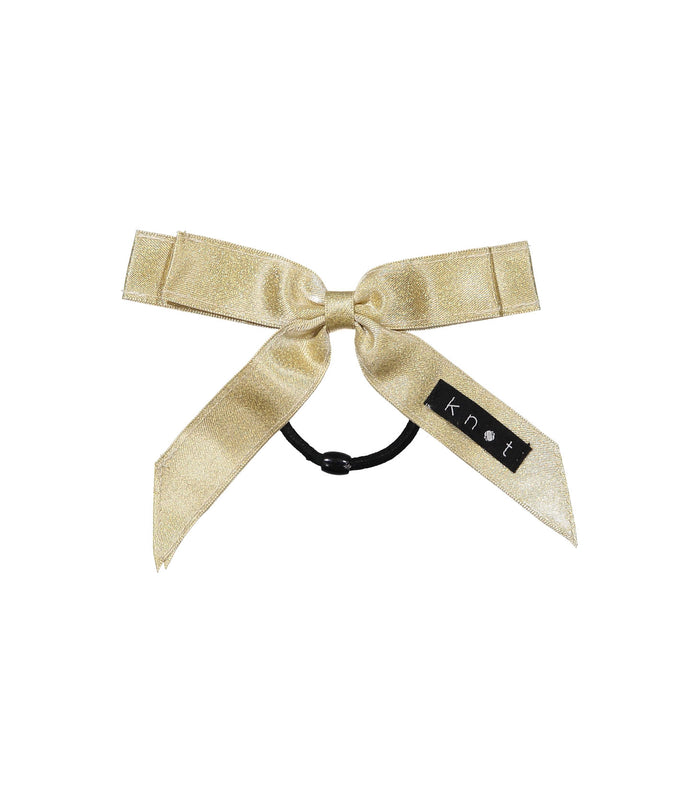 WAFFLE BOW PONY // Gold - KNOT Hairbands